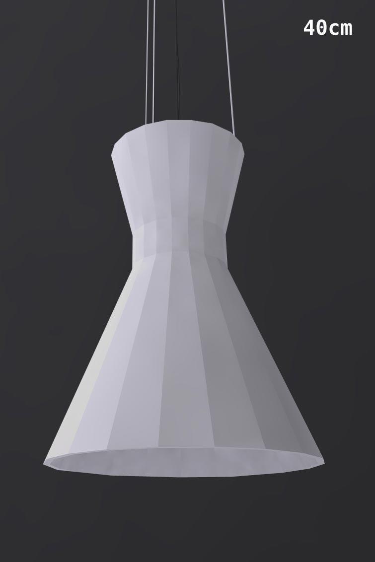 suspension audio 2 en pl tre naturel peint en blanc 32cm. Black Bedroom Furniture Sets. Home Design Ideas