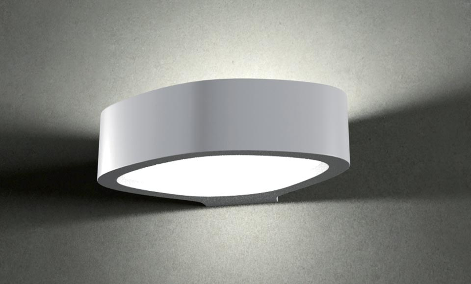 Oval 3058 applique en plâtre naturel. Sedap.