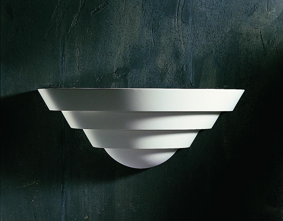 Cauldron 1301 wall light in natural white plaster. Sedap.