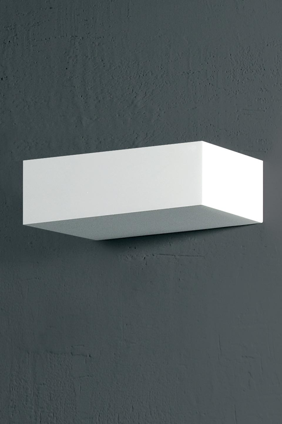 Edge Small model rectangular natural plaster wall lamp. Sedap.