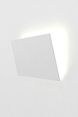 Format A3 wall lamp in white natural plaster. Sedap.