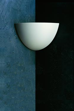 Wall lamp Angle1427 in natural plaster for room corner. Sedap.