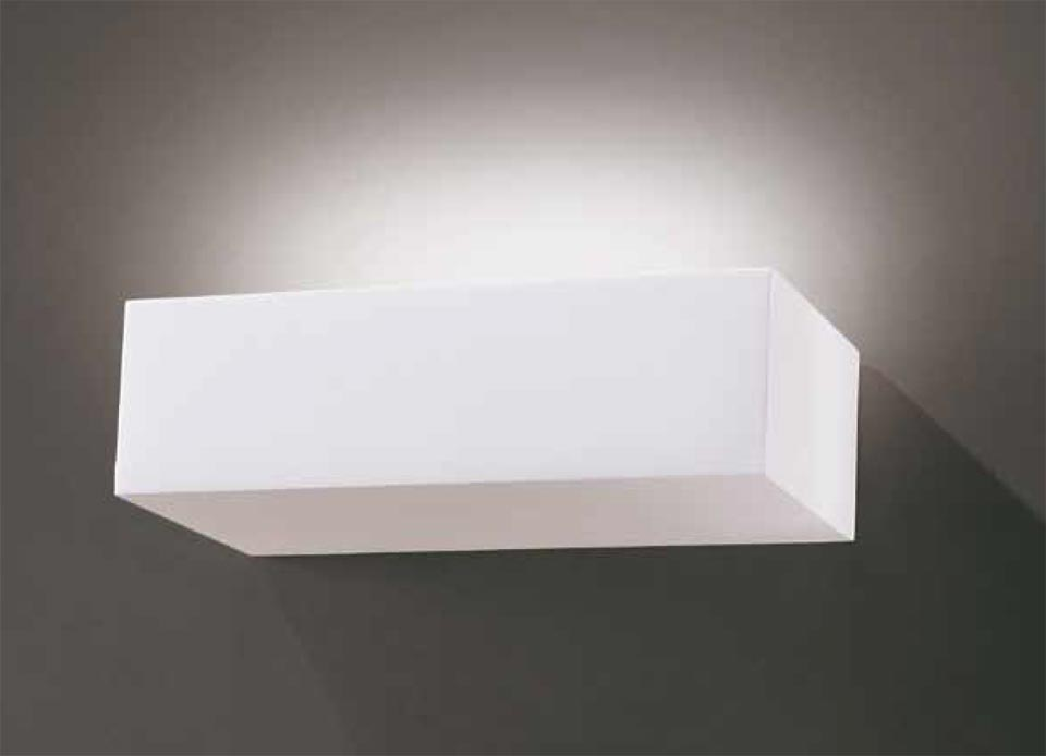 Wall lamp Bric 1732 rectangular plaster natural white. Sedap.