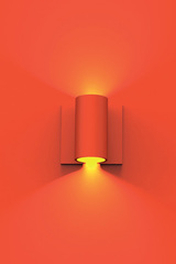 Red tube wall lamp Ana. Sedap.