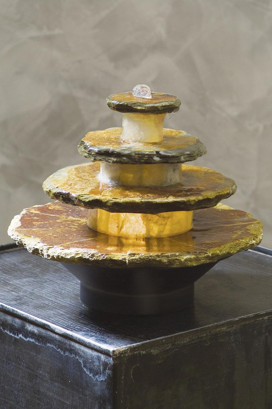 mini fontaine en pierre forme circulaire seliger sp cialiste des fontaines int rieur et jardin. Black Bedroom Furniture Sets. Home Design Ideas