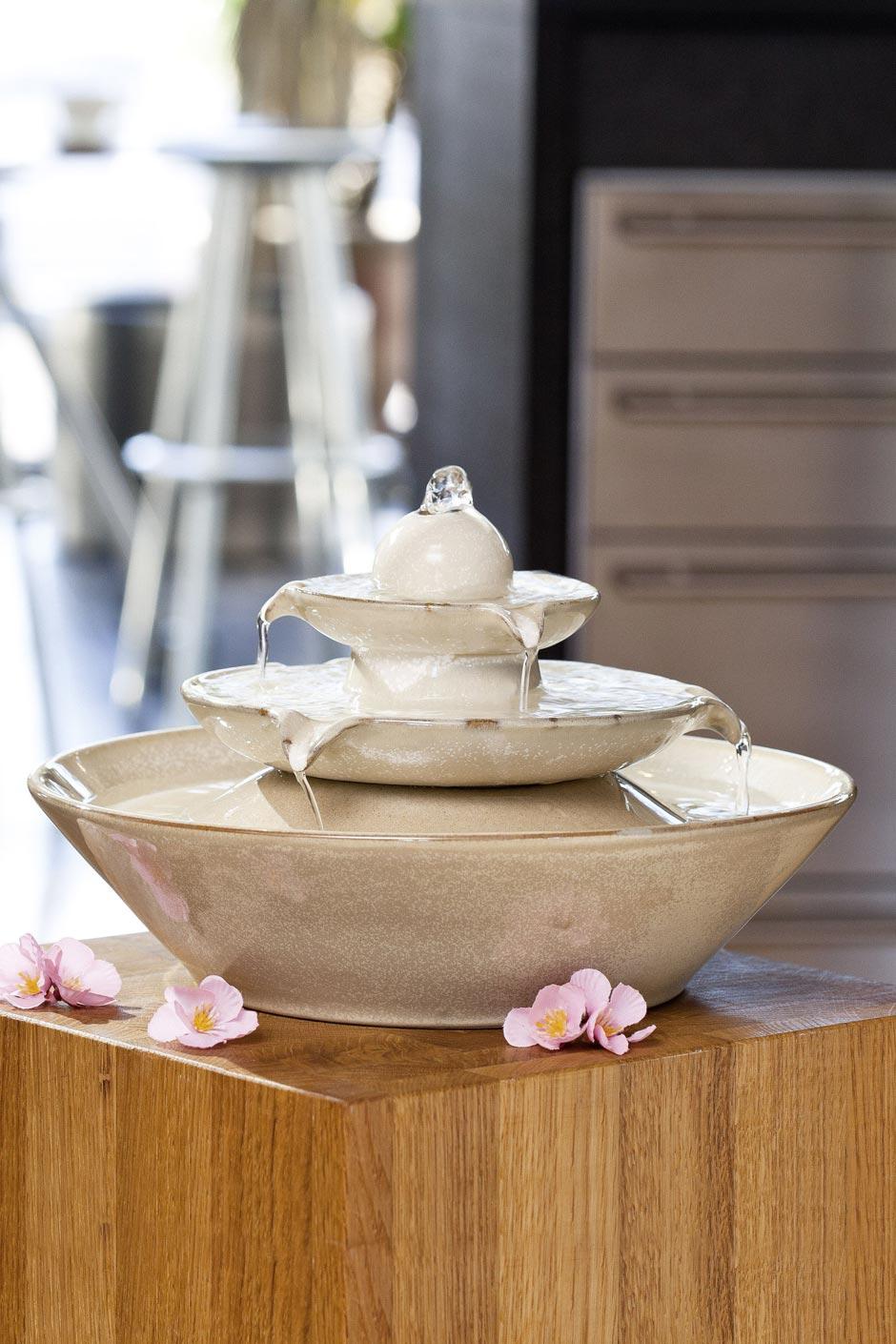 fontaine vasque en céramique beige  seliger spécialiste