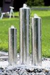 Fontaine jardin inox design tubes. Seliger.