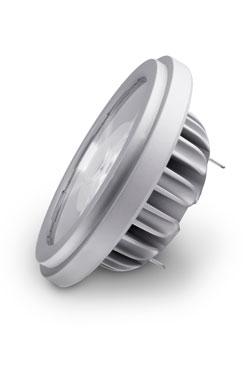 Ampoule spot AR111 LED 9°, 2700K. SORAA.