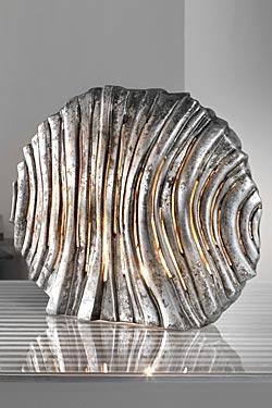 Dune lampe en céramique argent. Munari par Stylnove Ceramiche.
