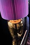 Gunnel lampe potiche dorée vernie. Munari par Stylnove Ceramiche.