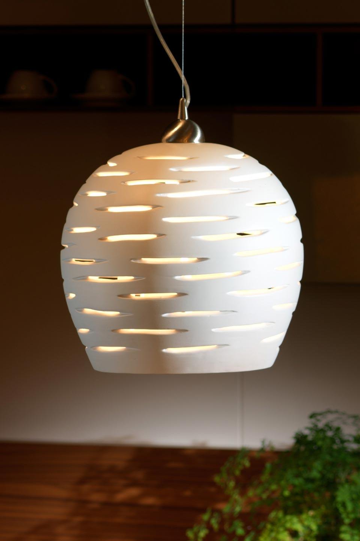 Giasone suspension ronde céramique blanc mat. Munari par Stylnove ...