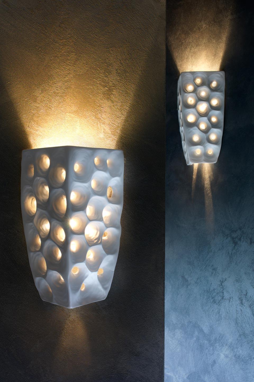 ares suspension céramique blanche intérieur doré - réf. 13030377