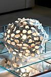 Linea Reef lampe de table ronde grand modèle blanc brillant. Munari par Stylnove Ceramiche.