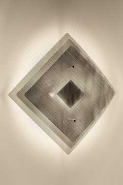 Eclipse applique inox 34cm. Thierry Vidé.