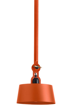 Orange Bolt ceiling lamp with one single arm (underfit). Tonone.