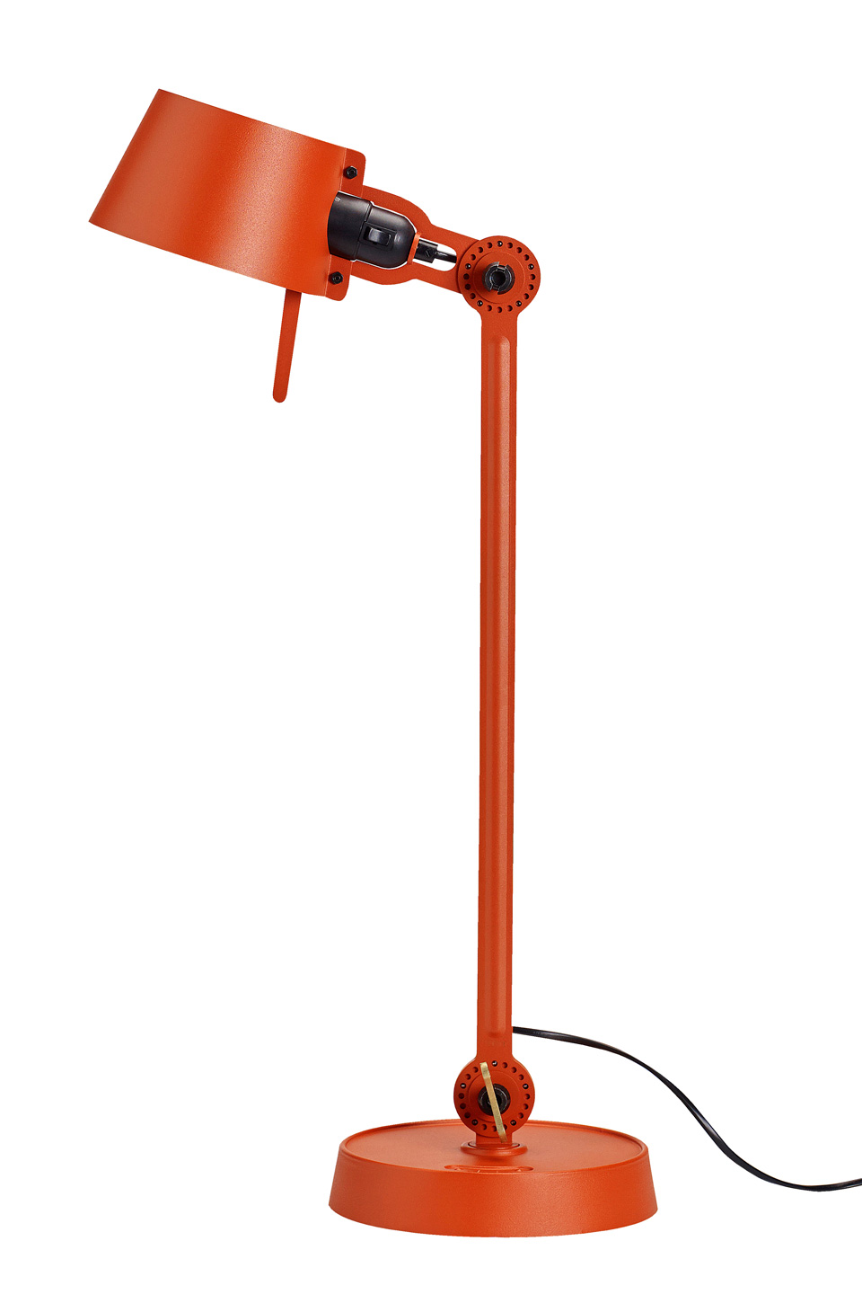 Large Bolt Desk Lamp With One Arm Only And A Steel Base Orange Tonone Industrial Design Light By Anton De Groof Ref 17090115