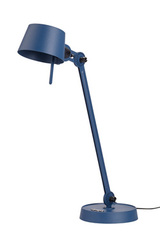Large Desk lamp with one arm only, and a steel base. Blue. Tonone.