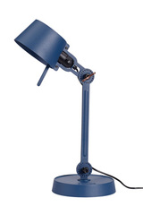 Small Bolt Desk lamp with one small arm, and a steel base. Blue.. Tonone.