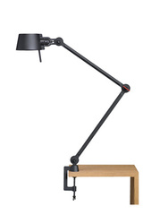 Desk lamp with two arms, in black metal Bolt Desk . Tonone.