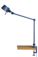 Desk lamp with two arms, in blue metal Bolt Desk. Tonone.