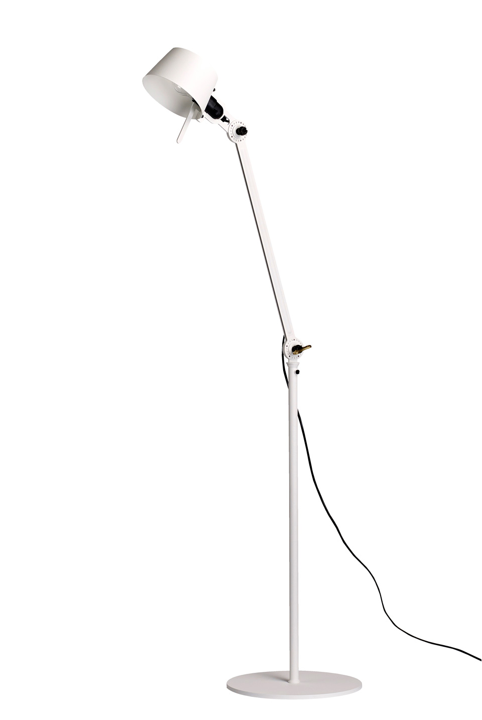 Industrial Bolt Floor Lamp in lighting white metal. Tonone.