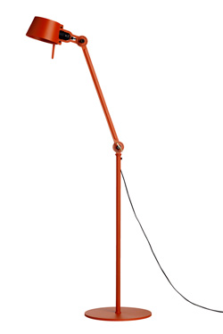 Industrial style orange steel floor lamp Bolt. Tonone.