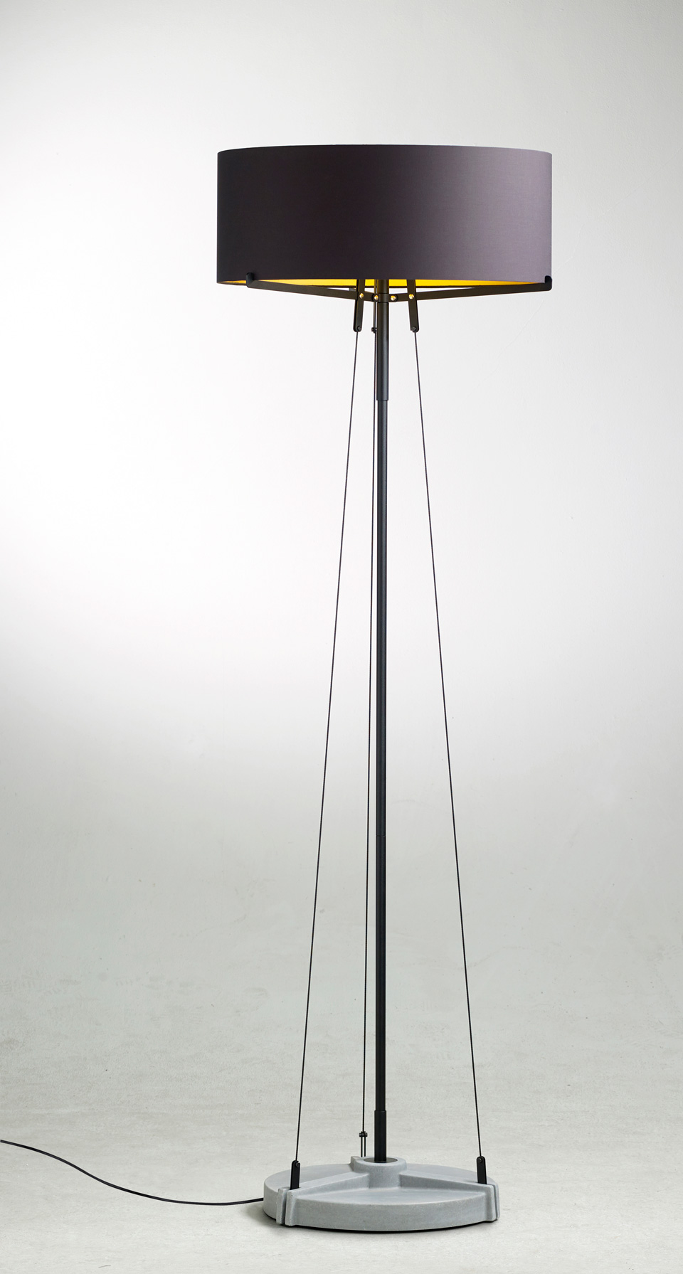 Matt Black Floor Lamp Nearly 2m Tall Stayed With 3 Guys Ancd On A Steel Base