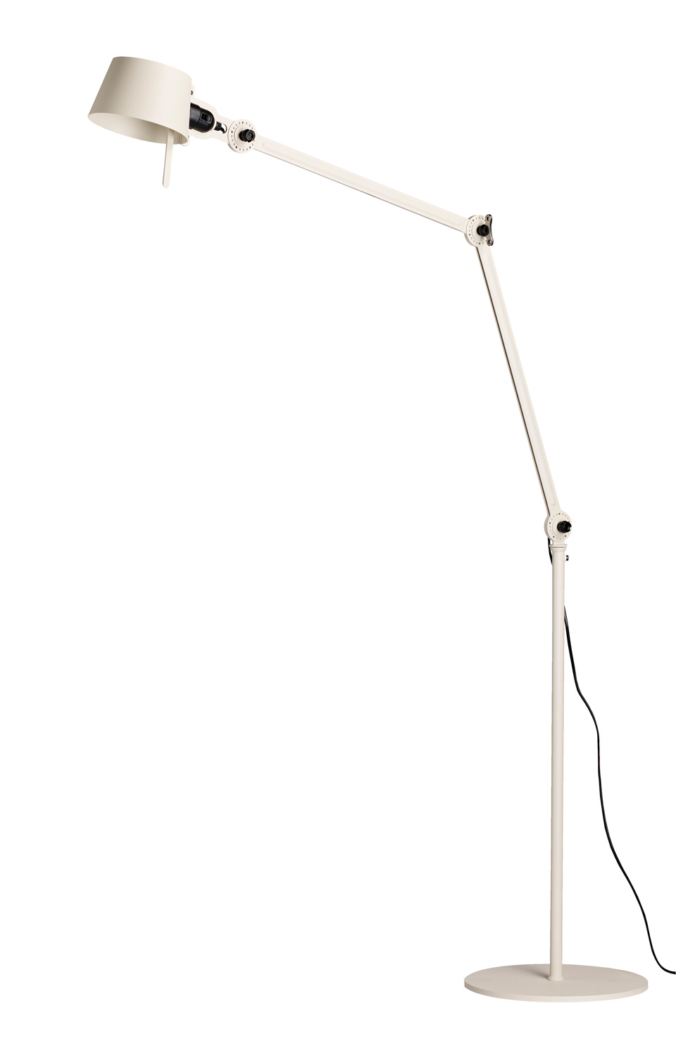 Grand lampadaire en métal articulé Bolt écru. Tonone.
