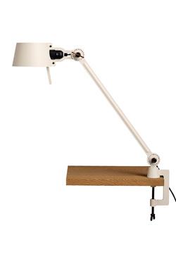 Grande lampe de bureau à pince étau Bolt Desk grand modèle écru. Tonone.