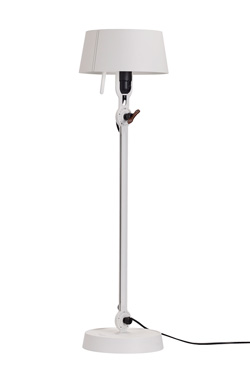 Grande lampe de table blanche en acier grainé Bolt. Tonone.