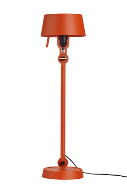Grande lampe de table Bolt orange style lampe d'atelier industriel. Tonone.