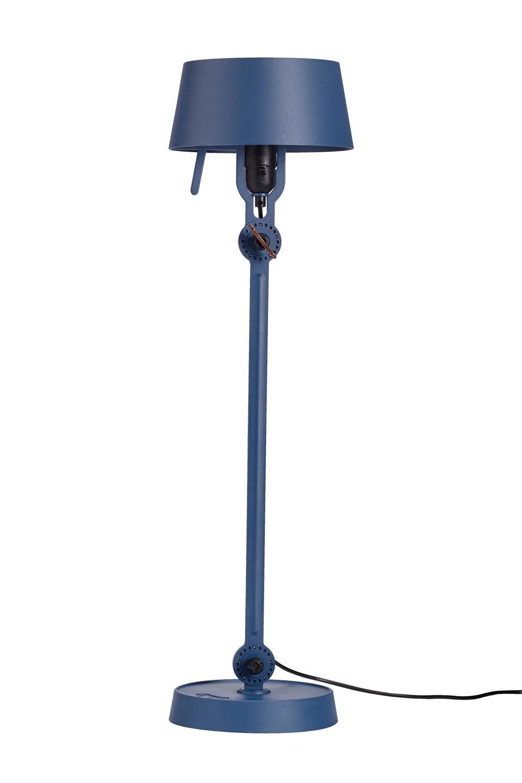 Grande lampe de table en acier bleu orage Bolt. Tonone.