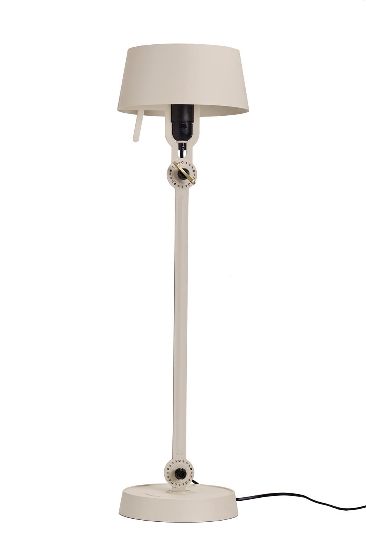 Grande lampe de table orientable en acier écru Bolt. Tonone.