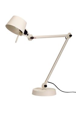 Lampe de bureau design en métal grainé écru Bolt Desk. Tonone.
