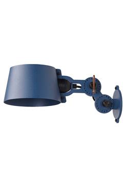 Petite applique design bleue en métal grainé Bolt. Tonone.