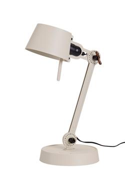 Petite lampe de bureau écru en métal aspect grainé Bolt Desk, sur socle. Tonone.