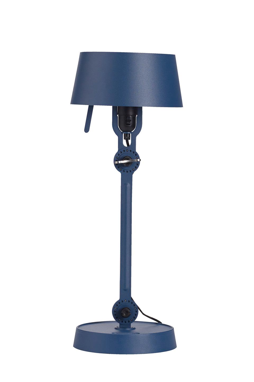 Petite lampe de table bleu orage Bolt style industriel. Tonone.