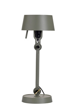 Petite lampe de table orientable sur rotules vert kaki. Tonone.