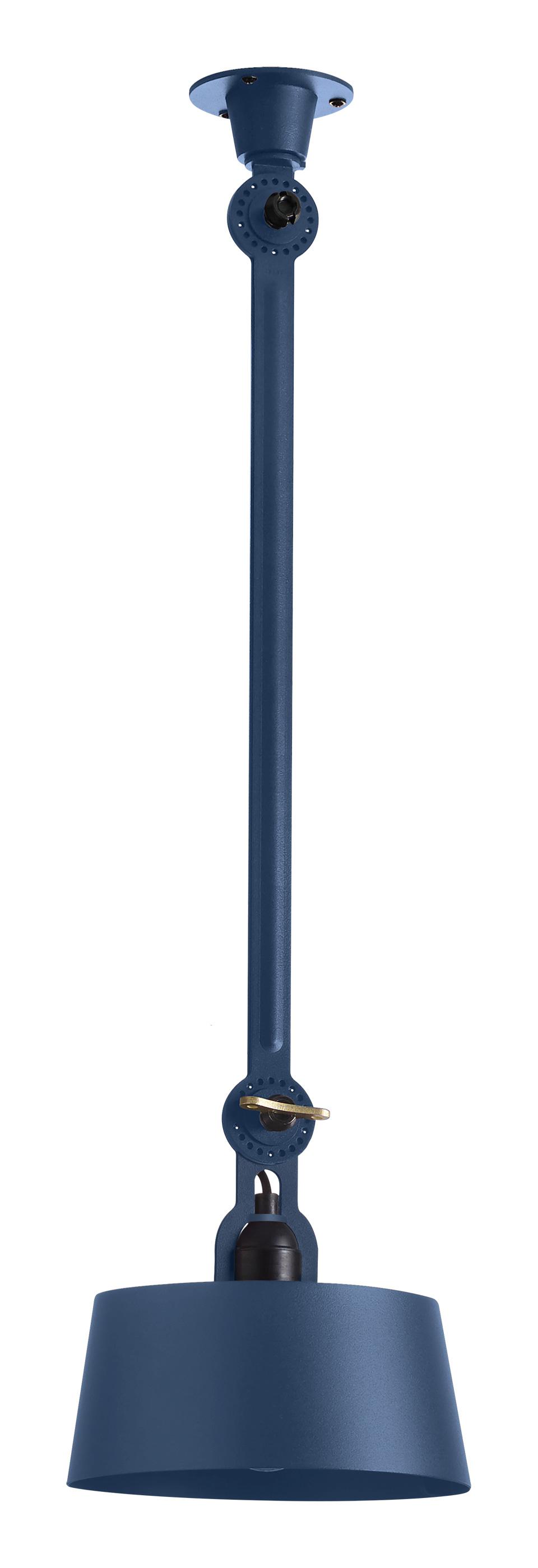 Plafonnier bleu à bras orientable Bolt style industriel en acier massif. Tonone.