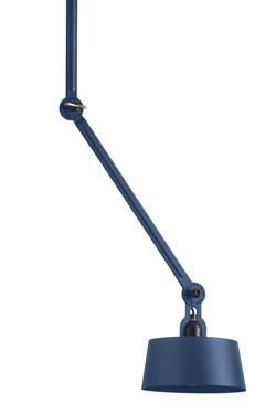 Plafonnier bleu design industriel en acier grainé Bolt. Tonone.