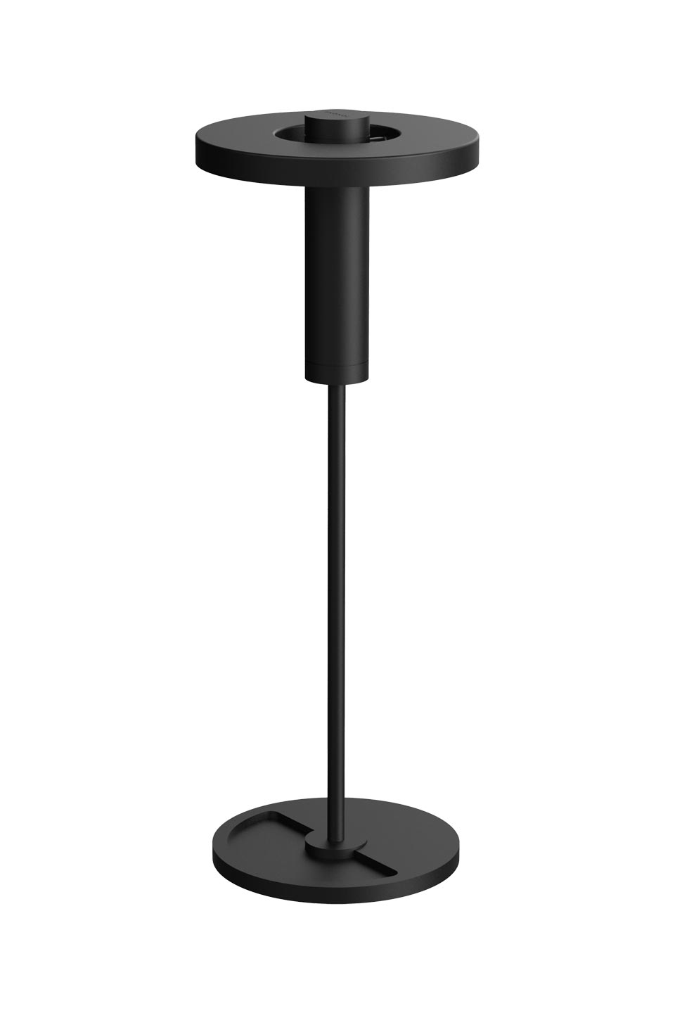 Beads table lamp in aluminum and black steel downlight. Tonone.