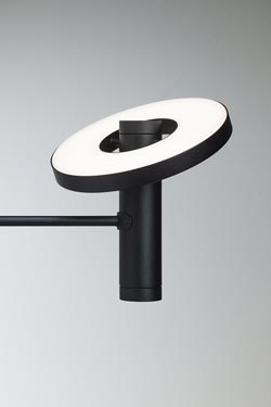Beads black wall lamp minimalist contemporary style. Tonone.