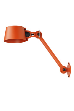 Bolt wall light large model in orange grained steel. Tonone.