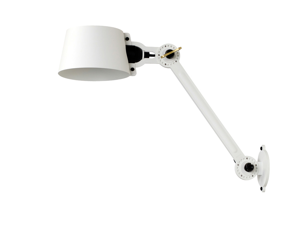 Bolt pure white grated metal wall light. Tonone.
