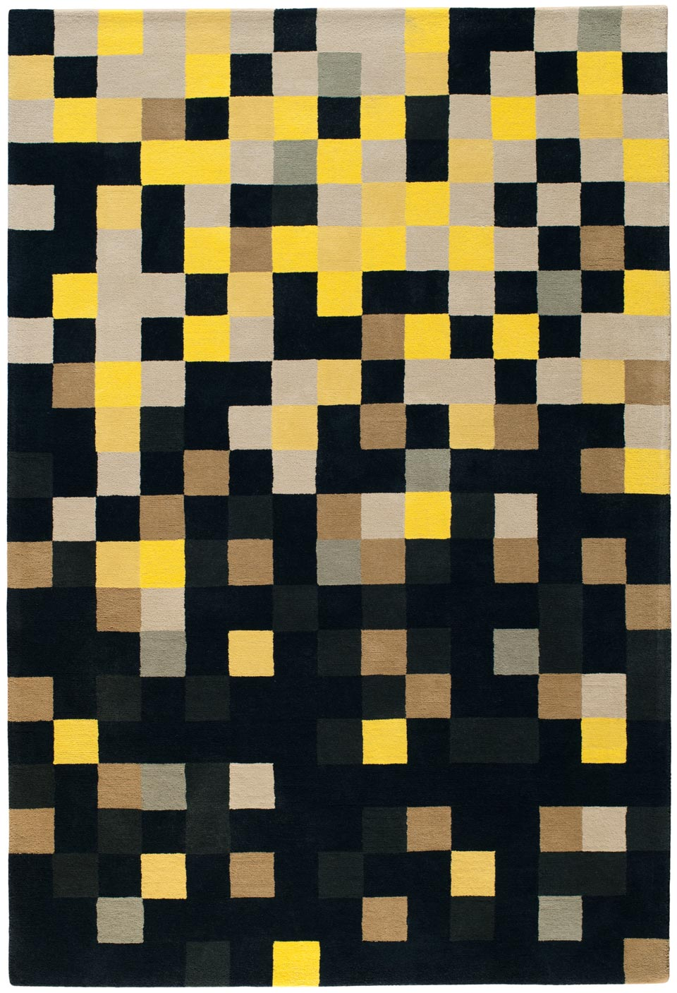 Tapis de salon jaune for Tapis de salon design