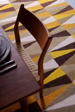 Jaune marron beige et blanc tuft main 100 laine toulemonde bochart tapis design et Beaux tapis contemporains