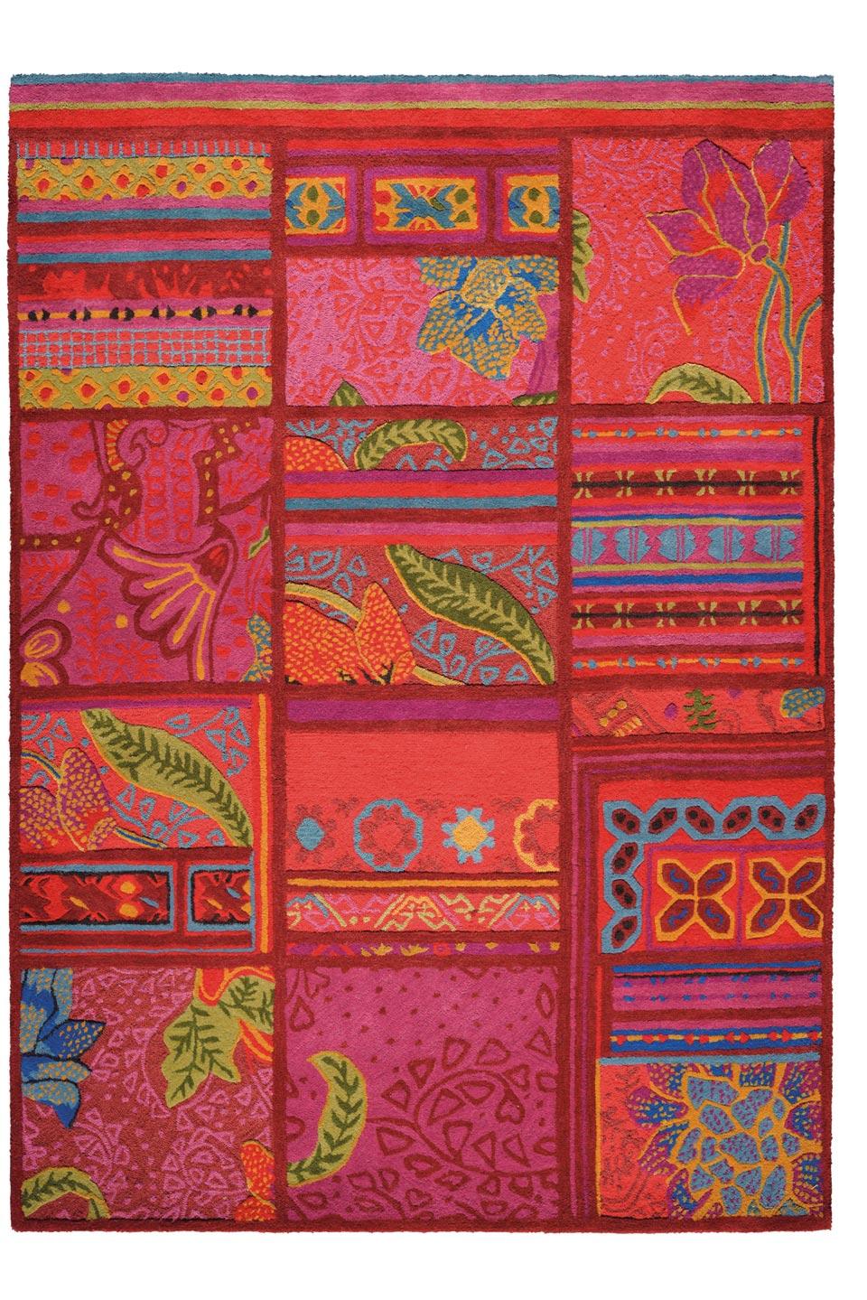 tapis multicolore tuft main laine et soie v g tale toulemonde bochart tapis design et. Black Bedroom Furniture Sets. Home Design Ideas
