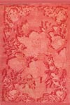 Tapis de salon Rosarum rose 140x200cm. Toulemonde Bochart.