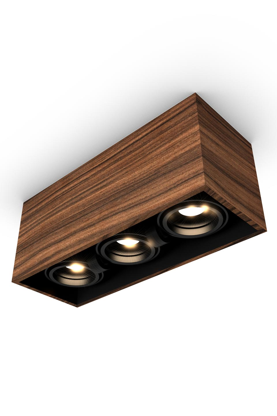 Mini Spot 3 Lights In Rosewood 32x12cm