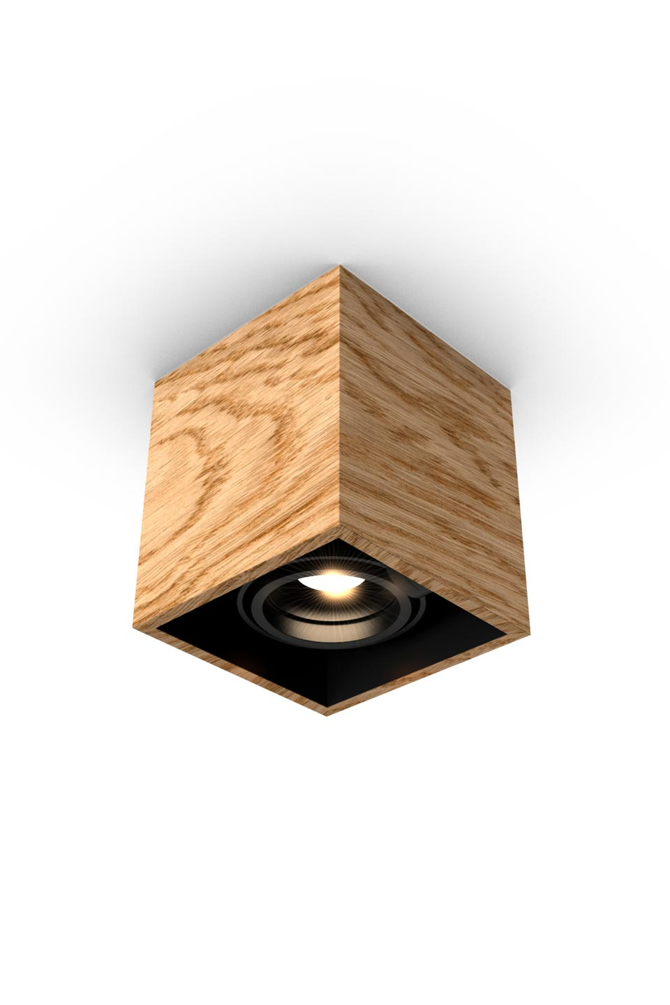 Mini Chalet En Bois spotlight in wood and led, available in 1, 2 or 3 lights